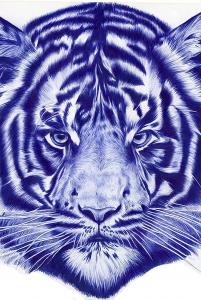 Towering Blue Tiger