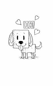 Happy Dog Black & White