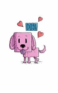 Happy Dog Pink