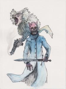 Demon Skull & Mr Gibson