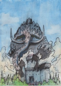Giant Elephant Fortress Kaiju