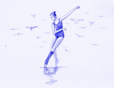 Dancing With Birds (Blue)