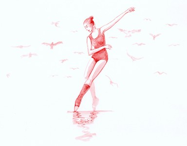 Dancing With Birds (Red)