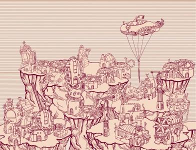 Red Steam Punk City