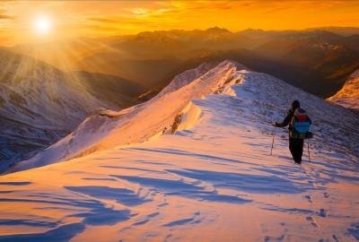 Snowy Sunset Trek
