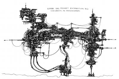 Lunar Gas Pocket Extraction
