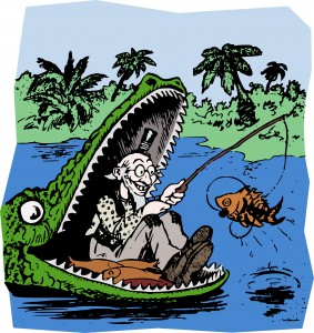 Fishing in the Gator's Mouth
