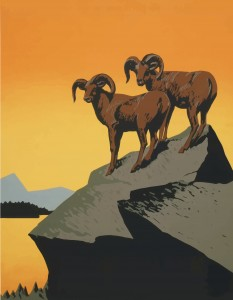 Rams on a Cliff