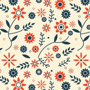 Traditional Flowers Beige