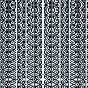 Moroccan Rosette Black and Gray