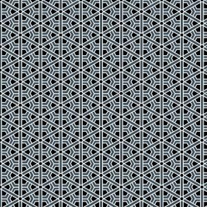Moroccan Rosette Black and Gray