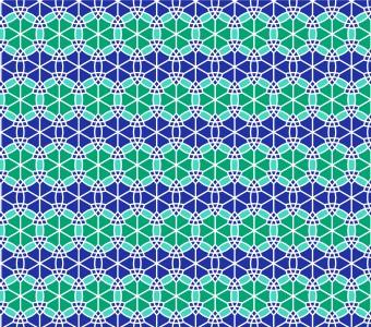 Moroccan Rosette Blueberry