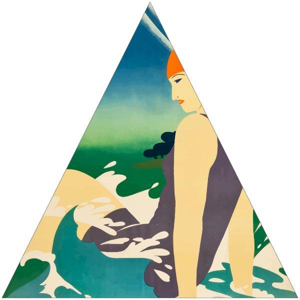 "16"" Triangle Sticker Shape"