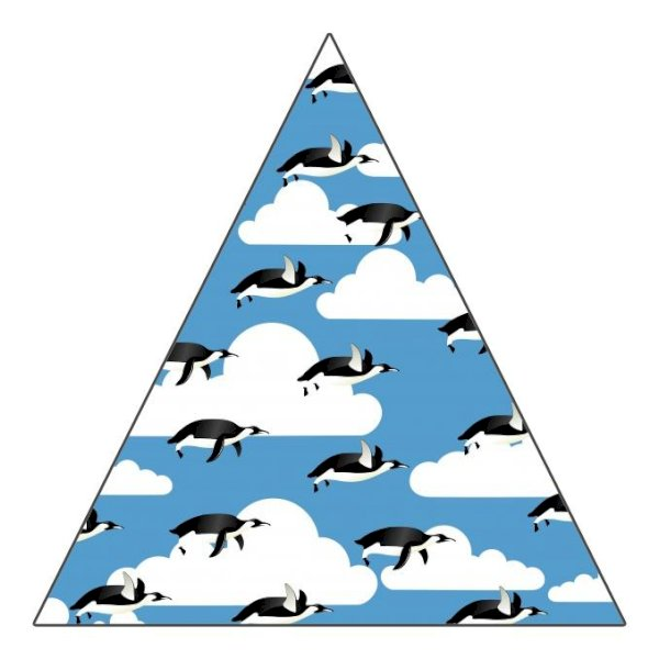"2"" Triangle Sticker Shape"