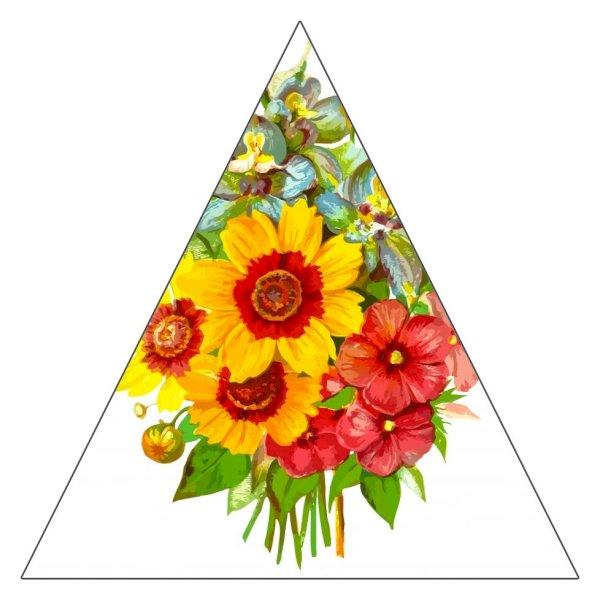 "3"" Triangle Sticker Shape"