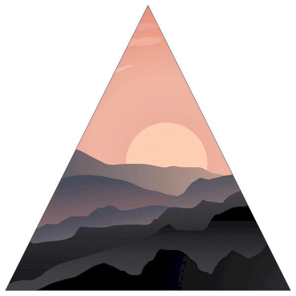 "6"" Triangle Sticker Shape"
