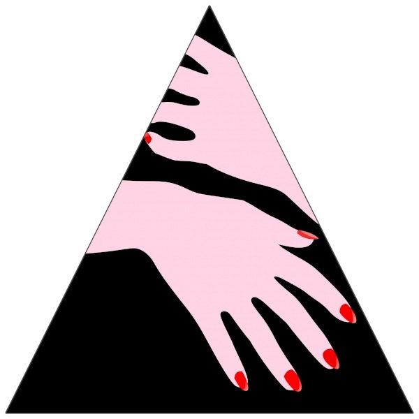 "8"" Triangle Sticker Shape"